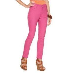 NYDJ fuchsia pink ankle skinny jeans